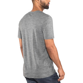 Icebreaker Tech Lite Crewe Top T-shirt Heren, gritstone heather